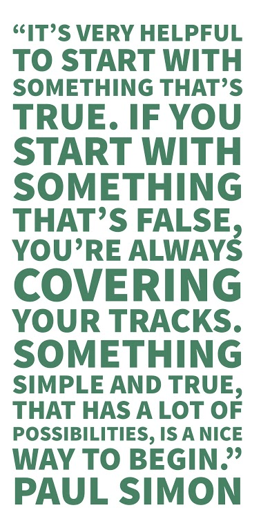 Paul Simon Quote on Songwriting