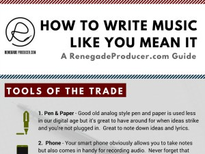 Songwriting tools graphic