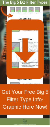 5 EQ Filter Types Info-graphic - Click to get the full size image