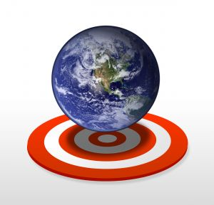 Music Marketing Targeting image of the world on a target