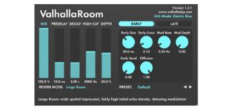 Valhalla Room Reverb Screenshot