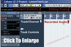 click for image of audio editor screen