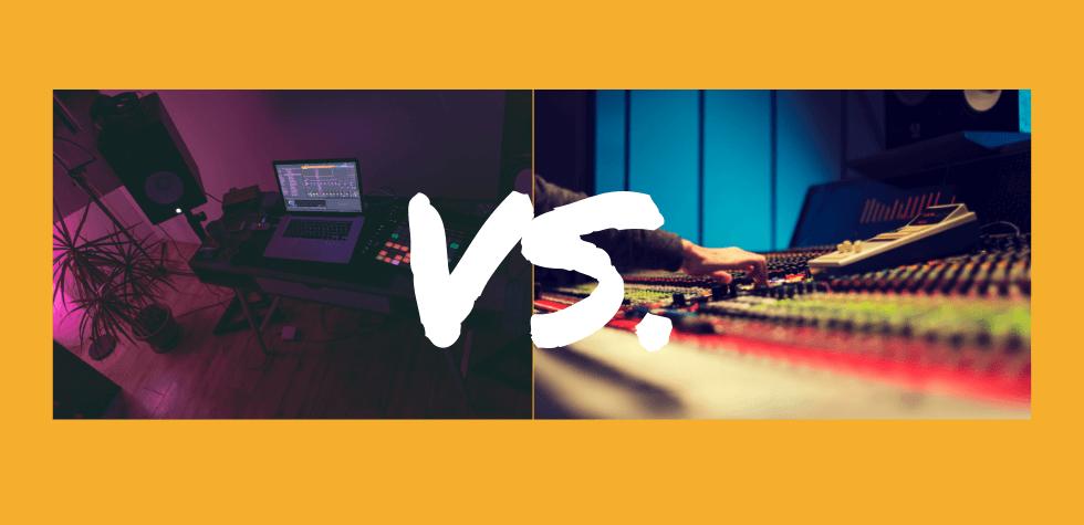 Image of Home Studio VS Pro Studio