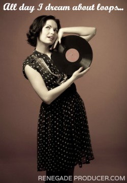 woman with record