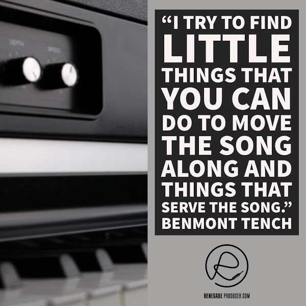 Benmont Tench Quote on Songwriting