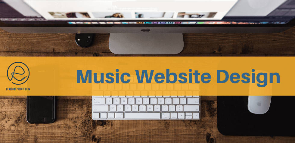 Music Website Design Hero Image