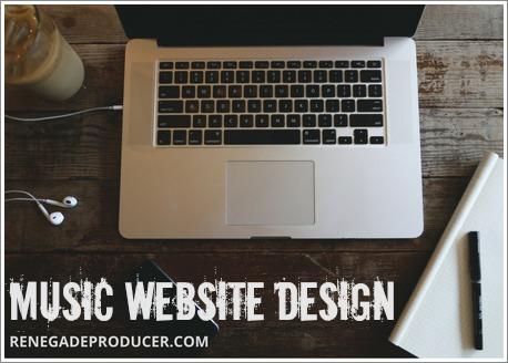 Music Website Design Hero Image