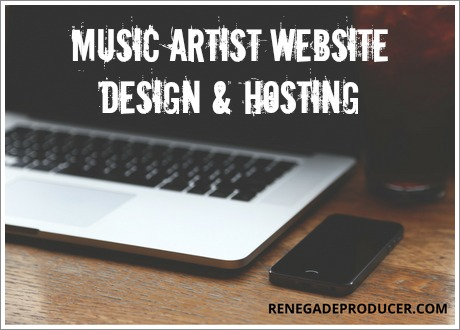 Musician and producer web hosting and design