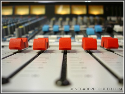 Image of a studio audio desk