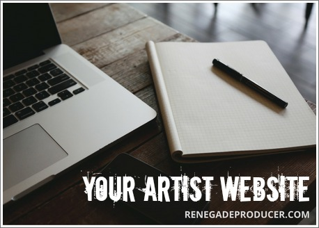 Every Musician Needs A Website Image of Laptop and Notebook
